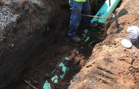 Covering drainage pipes