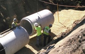 Selly Excavating working to install a commercial drainage system