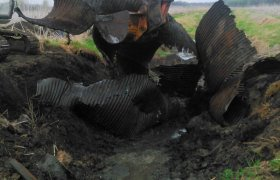 Selly Excavating using a mini excavator to remove old culvert piping