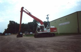 Large commercial excavator
